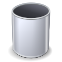 trashcan, Empty, recycle bin Silver icon