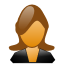 Female, user, woman SaddleBrown icon