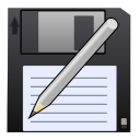 write, save, Disk, save as, Pen DarkSlateGray icon