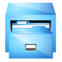 Drawer, file-manager LightSkyBlue icon