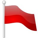 flag, red Red icon