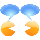 Konversation CornflowerBlue icon