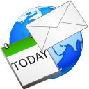 Email, Calendar, earth, world WhiteSmoke icon
