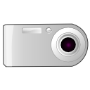 Camera, unmount Silver icon