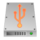 Hdd, unmount, Usb Silver icon