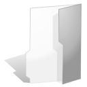 Folder, gray Snow icon