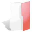Folder, red, open Snow icon