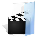 video, Folder Lavender icon
