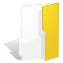 Folder, yellow Snow icon