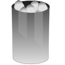 trashcan, Full DarkGray icon