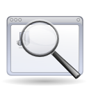 zoom, window, Find, search, magnifying glass WhiteSmoke icon