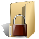 Folder, locked BurlyWood icon
