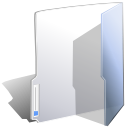 Folder, open, Close Silver icon