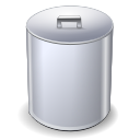 Full, trashcan Silver icon