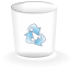 trashcan, Empty-alt DarkSlateGray icon