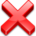 delete, cross, none, cancel, remove, Exit, Close, no, non, fermer Tomato icon