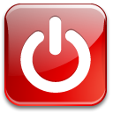 quit, Exit, power Crimson icon