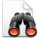 Find, Binoculars, search, File Snow icon