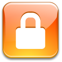 private, secure, Lock LightSalmon icon