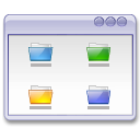 user interface, window, Folders WhiteSmoke icon