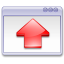 red, Fullscreen, Up, window, Arrow Lavender icon