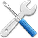 tools, preferences, settings Black icon