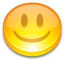 Face, yellow, happy, good, smile, button Gold icon