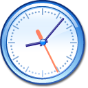 Clock AliceBlue icon