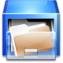 Drawer, file-manager CornflowerBlue icon
