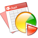 Kchart Black icon