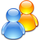 group, Users, friends, people CornflowerBlue icon