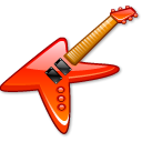 guitar, rock, Electric, instrument, music, metal Black icon