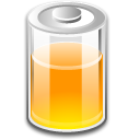 Orange, Battery Black icon