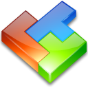 Computer game, tetris CornflowerBlue icon