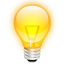 tip, Light bulb, Idea Orange icon