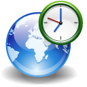 earth, world, Clock, internet DarkSlateGray icon