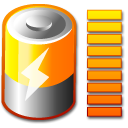 Full, Battery DarkOrange icon