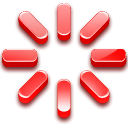 logout, star, Ajax Red icon
