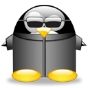 Neotux, Penguin DarkSlateGray icon