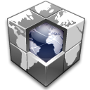 earth, network, world, Blocks, Hosting DarkSlateGray icon