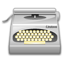 package, wordprocessing, typewriter DarkGray icon