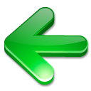 Arrow, green LimeGreen icon