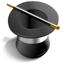 hat, wizard, magic DarkSlateGray icon
