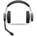 Headset, voice, support DarkSlateGray icon