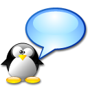 Chat, tux, Penguin Black icon