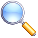 magnifying glass, goggle, search, Find, zoom Black icon