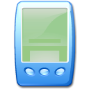 pda, Blue DarkSeaGreen icon