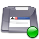 Zip, mount Gray icon