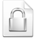 File, password, Lock, secure WhiteSmoke icon