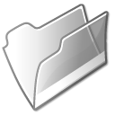 grey, Folder, open WhiteSmoke icon